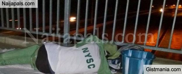 Sad! See a Homeless Youth Corper Sleeping on a Bridge in Kubwa, Abuja