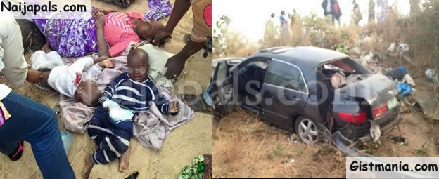 Graphic Photos Of Couple And Their Two Children In Ghastly Auto Accident In Gombe