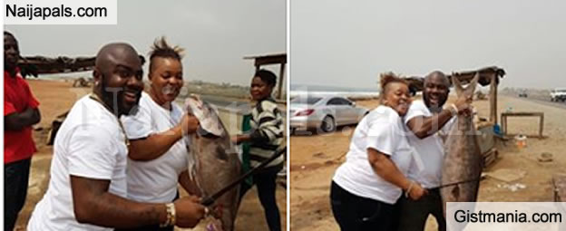 HILARIOUS! Couple Says 'Money No Be Problem' After Buying A Huge Fish On Road Trip. PHOTOS