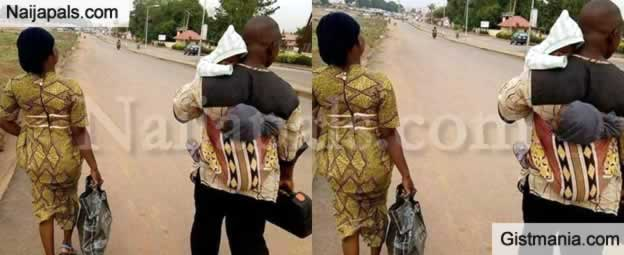 Charmed Or True Love? Man Carrying His 2 Kids While Wife Carries a Bag