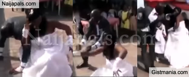 LMAO! Over-Excited Couple Gives Us The Craziest Dance We Have Even Seen At A Wedding!