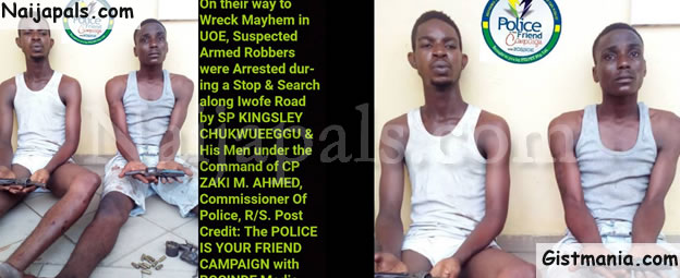 Two Cultists Arrested On Their Way To Strike In Port-Harcourt University (Photos)