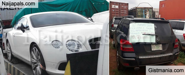 Nigerian Customs Seize Exotic Bentley And Other Cars After It was Smuggled Into Nigeria (PHOTOS)