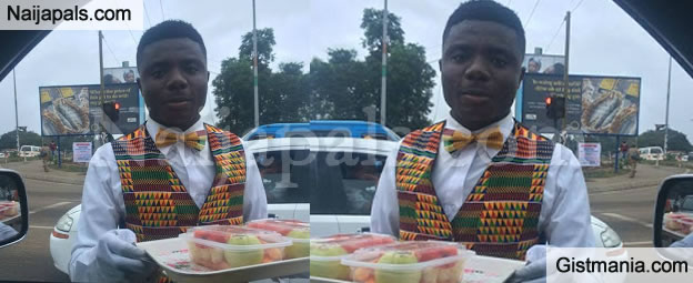 Is He The Dapperest Fruit Hawker In Ghana? Check Him Out - Photos