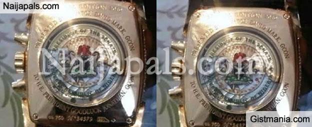 Senate President, David Mark Gave Pres. Jonathan A $200k Solid Gold Customized Watch