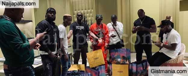 PHOTO! Davido Takes His 30BG Gangs, Zlatan & Lil Frosh For Shopping In Dubai