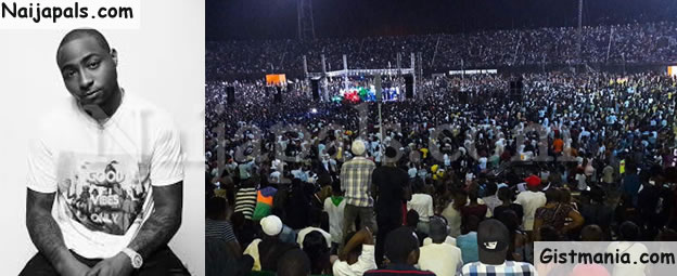 #30BillionAfricaTour! Over 50,000 Fans Turned Up For Davido's Show In Sierra Leone (Photos)