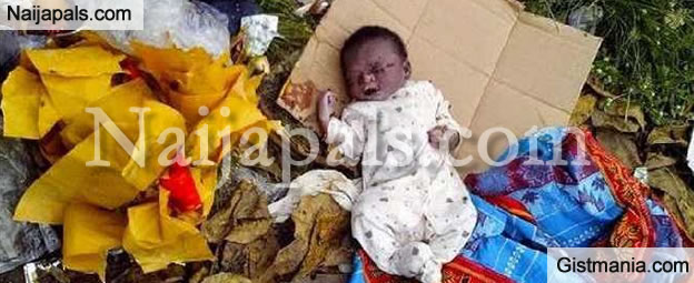 A Day Old Baby Abandoned In A Carton Was Recovered By Police In Ilorin
