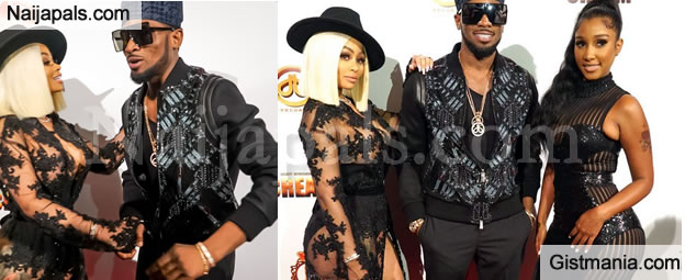 STAR POWER! Dbanj Brings Out Strippers, Blac Chyna and Bernice Burgos To His Album Launch