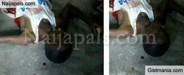 OMG! Man's Stomach Sliced Open As Rival Cult Group Clash In Cross Rivers State (Graphic)