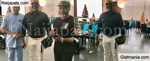 Something Is Wrong With This Photo Of Sen. Dino Melaye Posing With Nollywood Actors, Zack & Paul