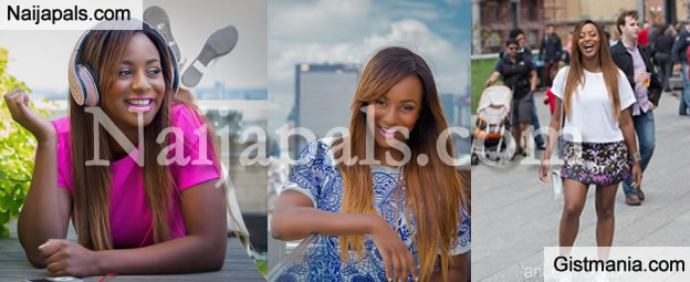 Photos Of Femi Otedola's Daughter, DJ Cuppy Around The Street Of New York