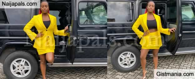 """Came Back Home To Handle Business"" -Dj Cuppy Reveals As She Poses With Her G Wagon"