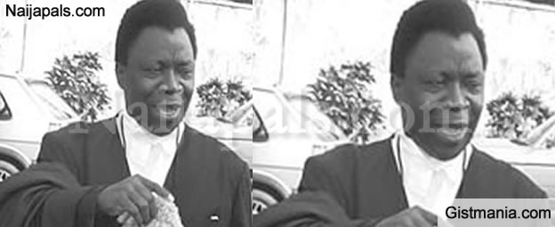 Just In: Former Minister Of Justice & Attorney General,  Dr Olu Onagoruwa Is Dead