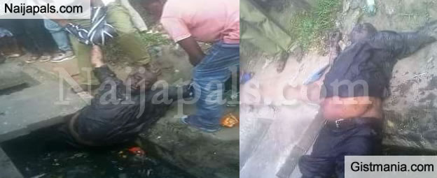 Chubby Man Found Dead Inside A Gutter In Warri, Delta State (Photos)