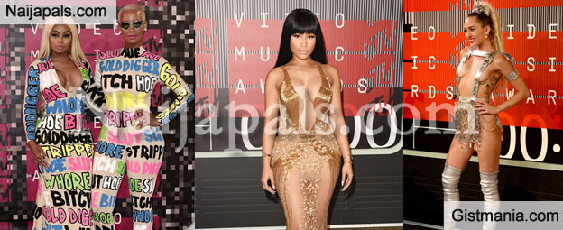 Blac Chyna, Amber Rose, Nicki, Miley and Other Crazy Fashion Statements At The MTV 2015 Awards