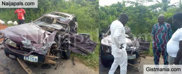 RIP: Driver Dies In Fatal Accident With Truck In Edo State (Photos)