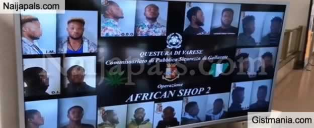 See Photos Of 10 Nigerian Drug Dealers Set To Be Deported From Italy