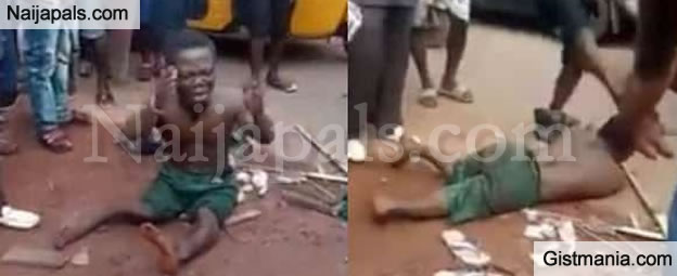 Dwarf Given Beaten Of His Life After He Was Accused Of Stealing Another Man's Peen in Enugu