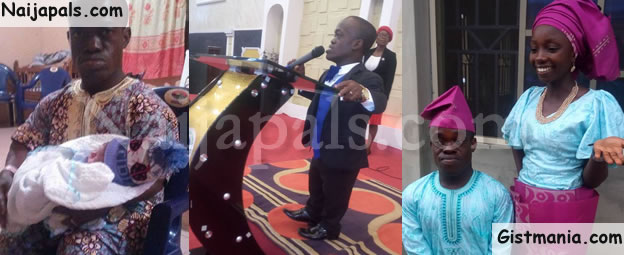 Dwarf RCCG Pastor/Lawyer, Dele Taiwo And His Wife Welcome Their First Child (Photos)
