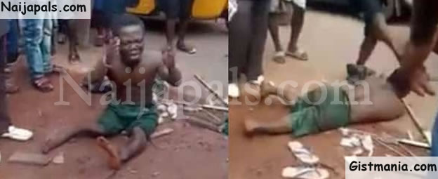 Dwarf Beaten Mercilessly Over Missing P3nis After He Shook Hands With A Man In Enugu (Photo)