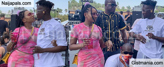 More Photos & Video Of Mr Eazi And His Babe, Temi Otedola Partying Hard at Coachella 2019