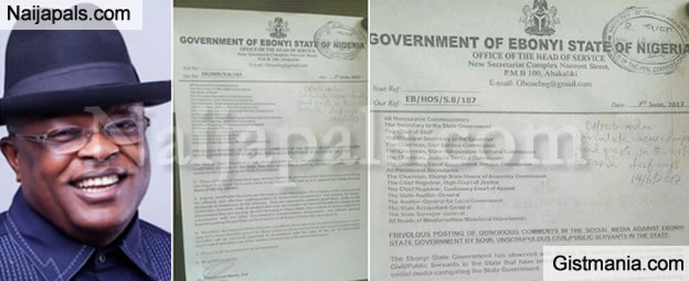 Ebonyi State Government Bans Civil Servants From Using Facebook (Photos)