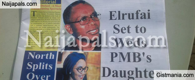 Could This Be True! Nasir El-Rufai Is About To Wed Zahra Buhari - The Polity Newspaper