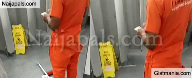 Elderly Nigerian Man Returns Money He Found In Lagos Airport Restroom (Video)
