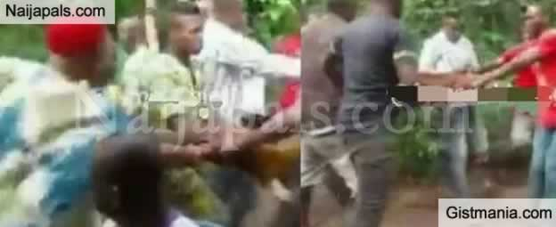 Drama As Youth And Elders Of Ogbunka Aguata Fights Over Goat Brought For Marriage Rite In Anambra