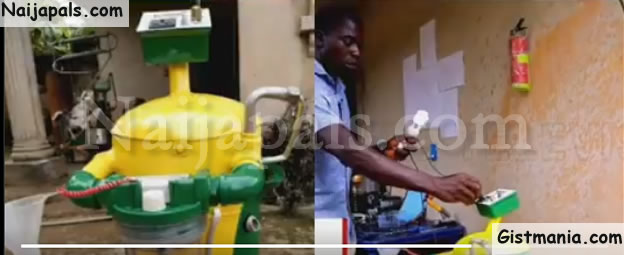 22-year-old Man, Emeka Nelson Who Had No University Education Invents Generator Fueled By Water