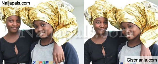 See What These 2 'EDO' Sisters Did With Their Emergency Blankets After Being Rescued