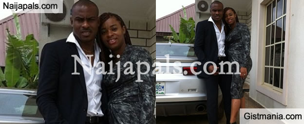 Sweet Love! Vincent Enyeama And His Beautiful Wife Loving Up In New Photo