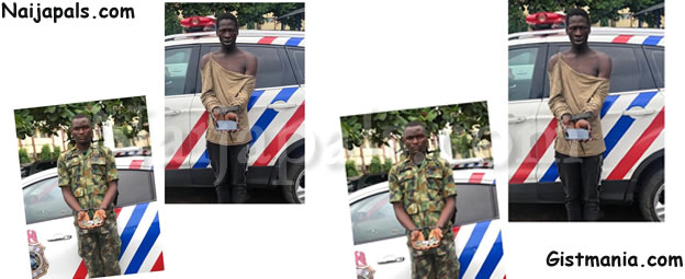 Fake Soldier, Robber Of Corps Member Arrested In Lagos (Photo)