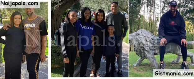 Embattled COZA Pastor, Biodun Fatoyinbo & Family Go On Vacation (Photos)