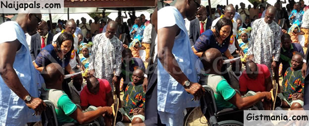 PHOTOS: Fayose Employs 10 Physically-Challenged Persons, Gives Out 35 Wheelchairs