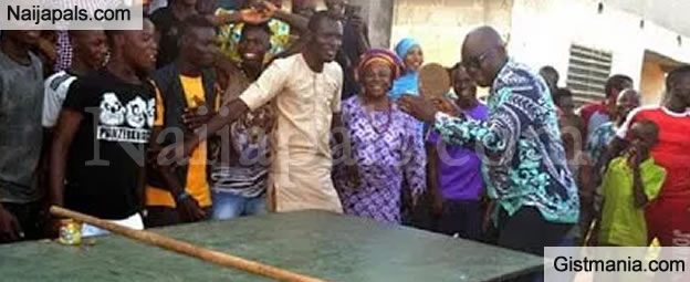 Checkout Photos Of Governor Fayose Playing Tennis With His People