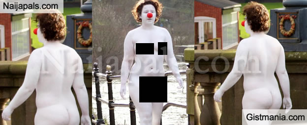 Neighbours Baffled After Unclad Female Clown Covered In White Paint Spotted Strolling In Worcester, UK