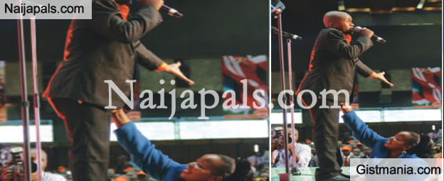 SHOCKING! Popular Female Bishop Touches Pastor Privates During Teaching [Photo]