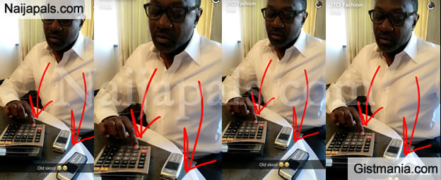 Check Out Billionaire Businessman Femi Otedola And His Old Nokia Phones