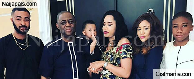 Femi Fani-Kayode Shares Adorable Photos Of His Family With His New Wife