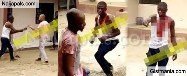 Wahala Dey O! Jealous Man Left With A Broken Head After Attacking Boyfriend Of His Crush (VID)
