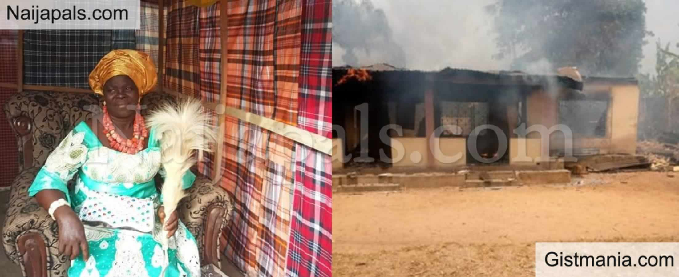 Helpless Man Watches His Wife Burn To Death After Explosion Inside Their House In Edo State