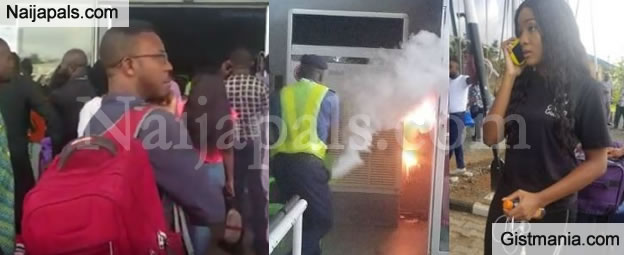 Passengers Flee As Fire Breaks Out At Sam Mbakwe Airport, Owerri Disrupting Flight - PHOTOS/VID
