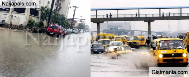 Non- Stop Rainfall Floods Some Parts Of Lagos - Photos