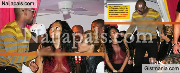 PHOTOS: Floyd Mayweather Goes To Club With Two Girlfriends To Celebrate Win Over Pacquaio