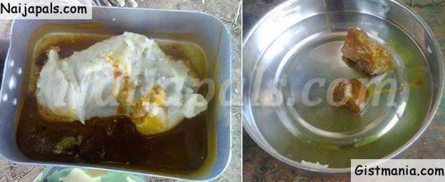 Photo of Food Allegedly Given to Nigerian Soldiers Fighting Boko Haram