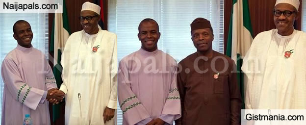 President Buhari Congratulates Father Mbaka On 21st Anniversary Of Priestly Ordination