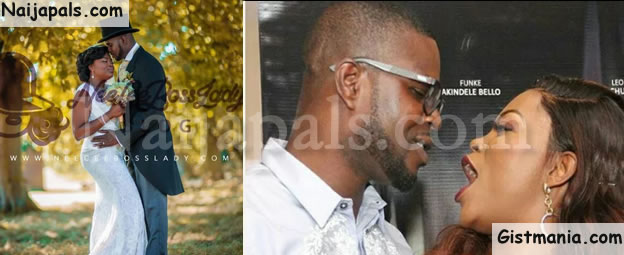 Funke Akindele & JJC Release Never Seen Photos Of Their Wedding As They Celebrate 1st Wedding Anniversary