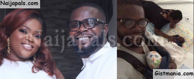 #FathersDay! Funke Akindele Shares Lovely Photos Of Her Hubby, JJC Skillz With Their Twin Boys